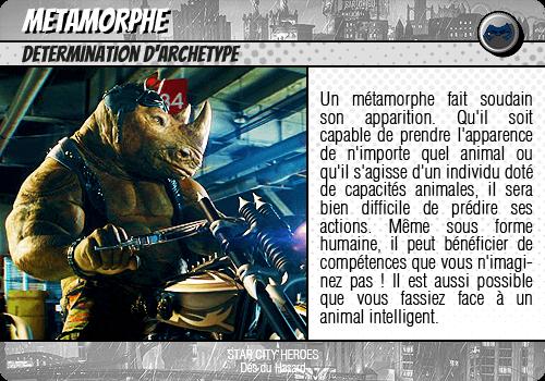 Lancer des dés introductifs Metamorphe